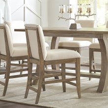 Sophie - Upholstered Counter Stool - Natural Finish