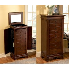 """508-315BT2  Louis Philippe """"Marquis Cherry"""" Jewelry Armoire"""