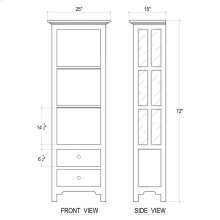 Aries Bookcase w/o Door