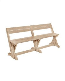 B202 Dining Table Bench with Back