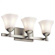 Serina Collection Serina 3 Light Bath Light in Brushed Nickel