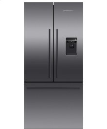 Black Stainless Steel French Door Refrigerator, 17 cu ft, Ice & Water
