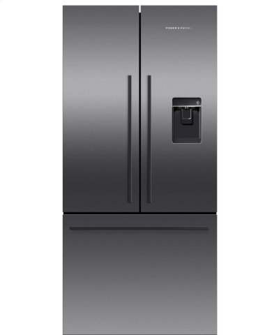 Black Stainless Steel French Door Refrigerator, 17 cu ft, Ice & Water Product Image