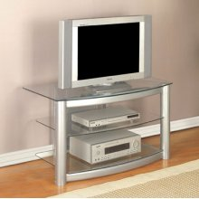 """Matte Silver"" TV Stand"