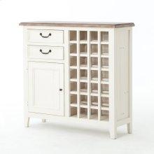 Cornwall Wine Cabinet-sun Ash/stucco Wht