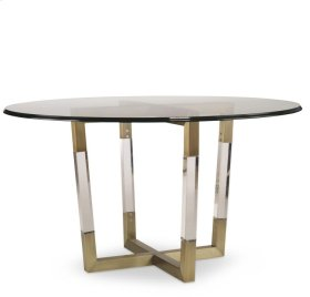 Metal/acrylic Dining Table Base for Wood Tops