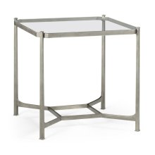 Silver Square Side Table
