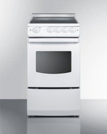 "20"" Wide Slide-in Smooth-top Electric Range In Black With Oven Window"