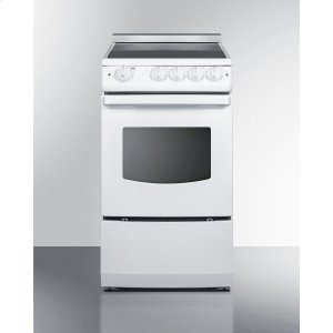 """Summit20"""" Wide Slide-in Smooth-top Electric Range In Black With Oven Window"""