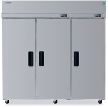 Dual Temp Cabinet, Three Section Upright, Full Stainless Door