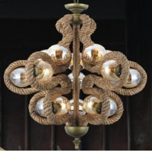 Modrest Barrel Modern Rope Chandelier