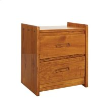 Sunset Trading Rustic Two Drawer Nightstand
