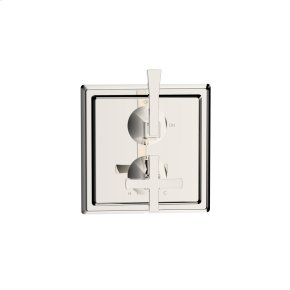 Dual Control Thermostatic with Volume Control Valve Trim Leyden (series 14) Polished Nickel (1)