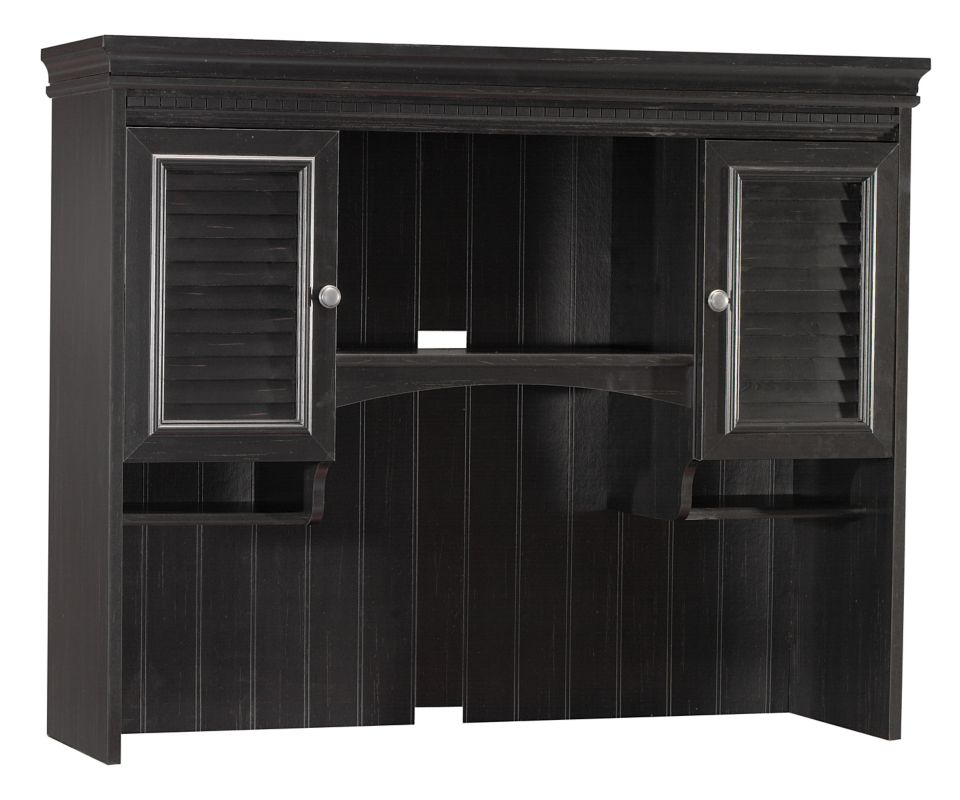 Stanford Hutch for Computer Desk - Antique Black