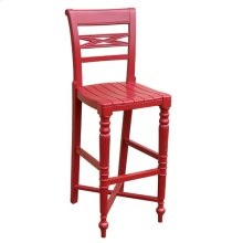 Raffles Wooden Seat Bar Stool