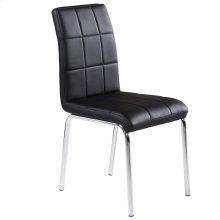 Solara II Side Chair in Black, 4pk