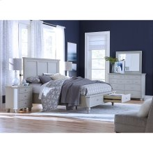 Queen Panel Bed with Storage