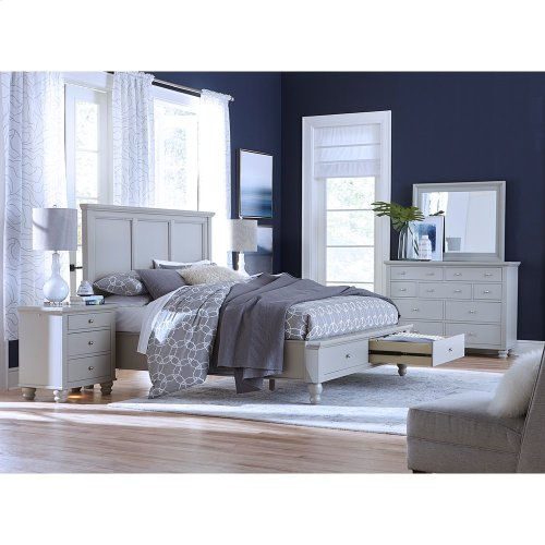 King Panel Bed with Storage