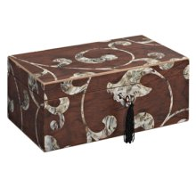 BRITTANY FLORAL 2 DRAWER JEWELRY BOX