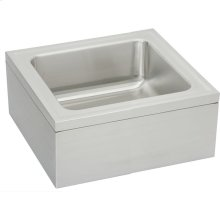 "Elkay Stainless Steel 25"" x 23"" x 8"" Single Bowl, Floor Mount Service Sink Package"