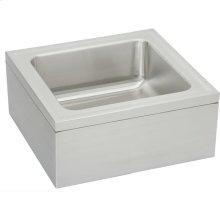 """Elkay Stainless Steel 25"""" x 23"""" x 8"""" Single Bowl, Floor Mount Service Sink Package"""