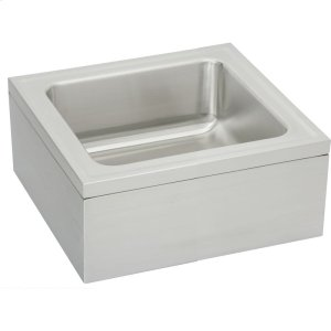 "Elkay Stainless Steel 25"" x 23"" x 8"" Single Bowl, Floor Mount Service Sink Package Product Image"