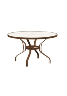 """Obscure Glass 48"""" Round KD Dining Umbrella Table"""