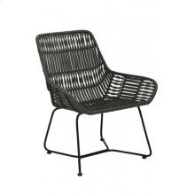 Chair 68,5x64x78 cm PETUNG rattan olive green