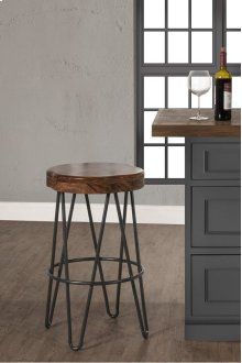 Dunaway Metal Backless Non Swivel Bar Stool