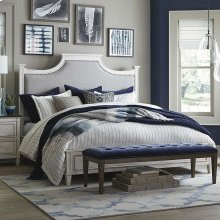 Twin/Aged Whitestone Bella Upholstered Panel Bed