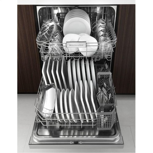 24'' 6-Cycle/6-Option Dishwasher, Pocket Handle - Stainless Steel