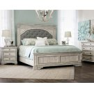 "Highland Park King Footboard Cathedral White 82.5""x3.5""x23"" Product Image"
