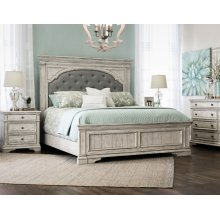 Highland Park Rail for King or Queen Bed, Cathedral White