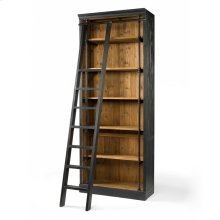 With Ladder Size Matte Black Finish Ivy Bookcase
