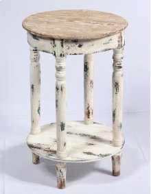 Emerald Home Ac125 Saxon Accent Table, Weathered Wood