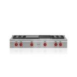 "WOLF48"" Sealed Burner Rangetop - 4 Burners, Infrared Charbroiler and Infrared Griddle"