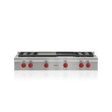 """48"""" Sealed Burner Rangetop - 4 Burners, Infrared Charbroiler and Infrared Griddle"""