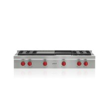 "48"" Sealed Burner Rangetop - 4 Burners, Infrared Charbroiler and Infrared Griddle"