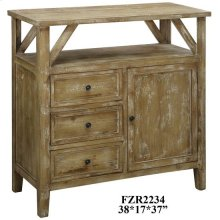Cheyenne 3 Drawer / 1 Door Rustic Media Console