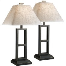 Exceptional Designs by Flash Deidra Black Metal Table Lamp,Set of 2