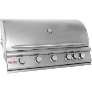Blaze GrillsBlaze 40 Inch 5-Burner Gas Grill With Rear Burner, With Fuel Type - Natural Gas