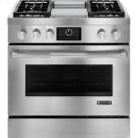 Pro-Style(R) Dual-Fuel Range with Griddle and MultiMode(R) Convection, 36""