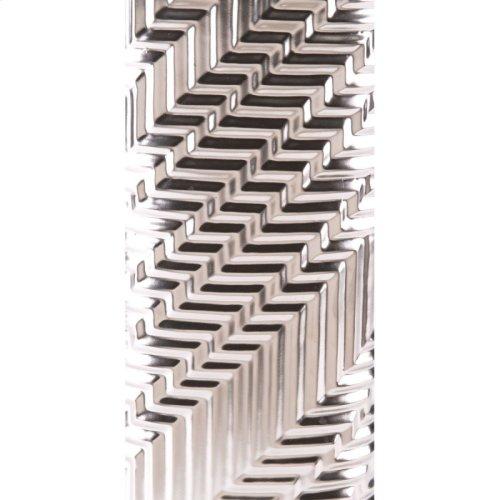 Mod Vase Lg Matt Silver
