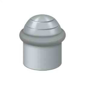 """Round Universal Floor Bumper Dome Cap 1-1/2"""", Solid Brass - Brushed Chrome"""
