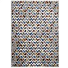 Gemma Chevron Mosaic 4x6 Area Rug in Multicolored