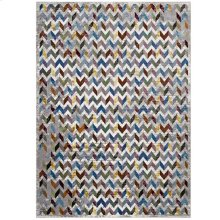 Gemma Chevron Mosaic 4x6 Area Rug in Multicolored