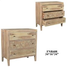 Bengal Manor Mango Wood 3 Drawer Blonde Finish Chest