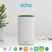 Echo (2nd Generation) - Smart speaker with Alexa - Sandstone Fabric