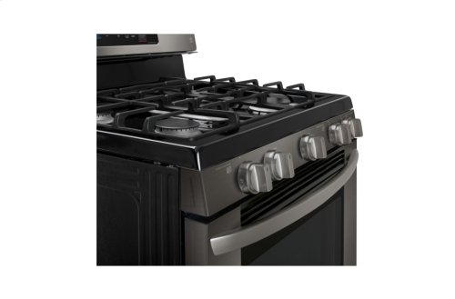 LG Black Stainless Steel Series 5.4 cu. ft. Capacity Gas Single Oven Range with EvenJet Fan Convection and EasyClean®