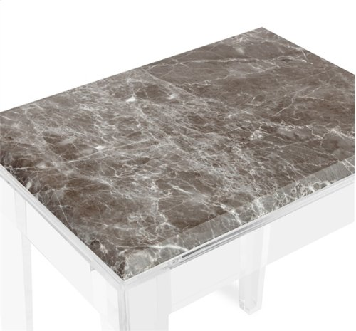 Amal Side Table - Italian Grey